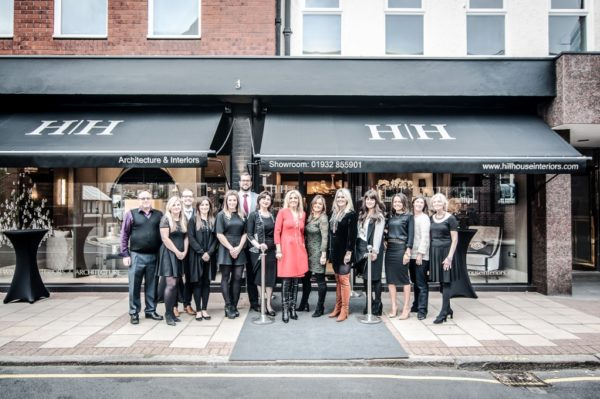The Hill House Team Outside The New Showroom On Baker Street, Weybridge